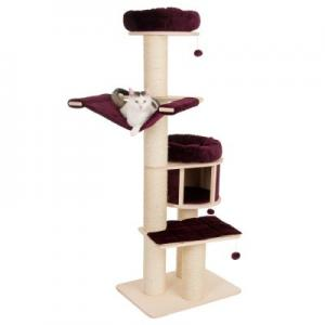 natural paradise cat tree xl standard burgundy